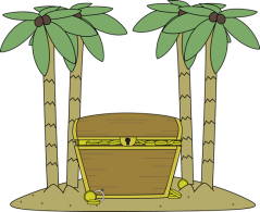 treasure-chest-with-gold-on-island