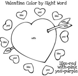 Valentines sight activity Day word Crafts,  sheets Games kindergarten  and bean Activities kindergarten green
