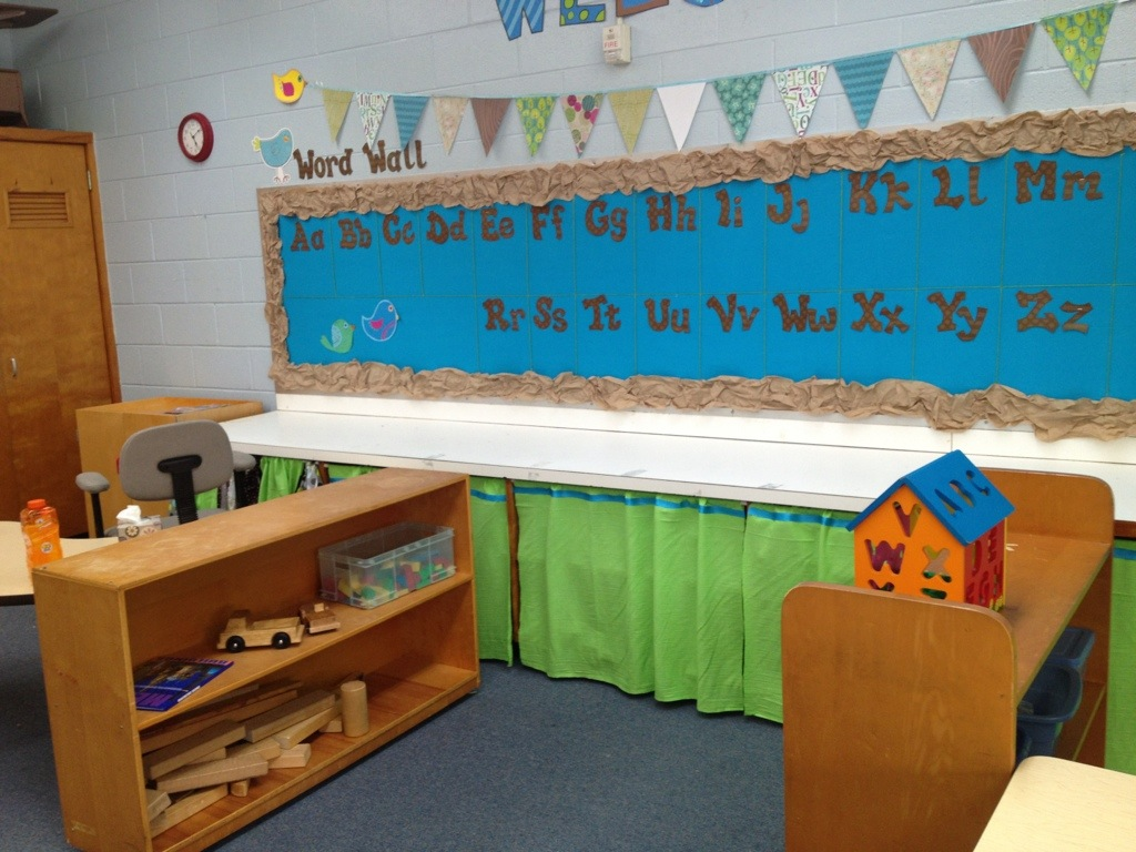 Fabric Bulletin Board Green Bean Kindergarten